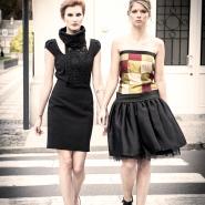 robe arlequin et robe noir dentelle