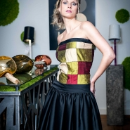 robe en patchwork en soie
